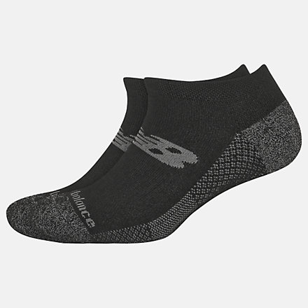 New Balance Cooling Cushion Performance No Show Socks 2 Pair, LAS01422BK image number null