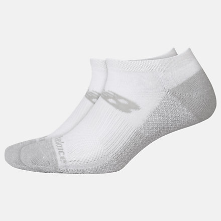 New Balance Cooling Cushion Performance No Show Socks 2 Pair, LAS01422WT image number null