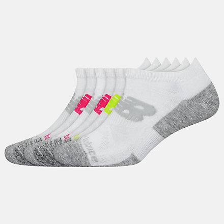 New Balance Performance Cushion Low Cut Socks 6 Pack, LAS01576WM image number null