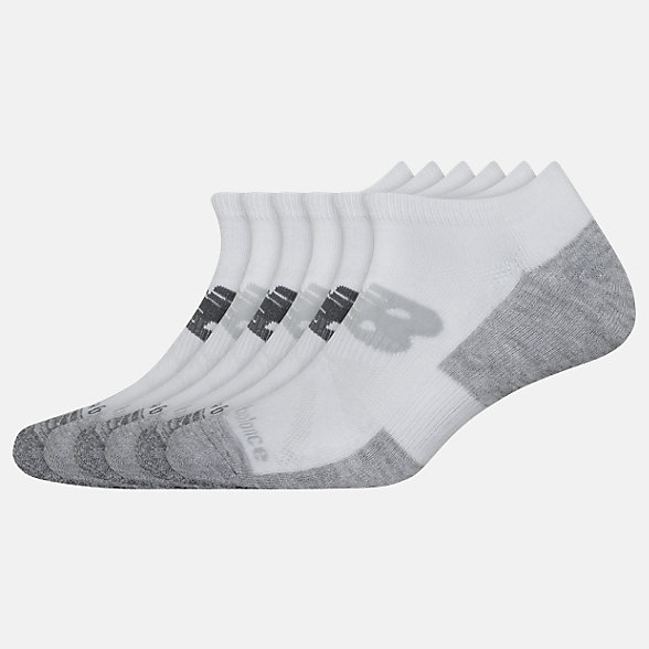 New Balance Performance Cushion Low Cut Socks 6 Pack, LAS01576WT