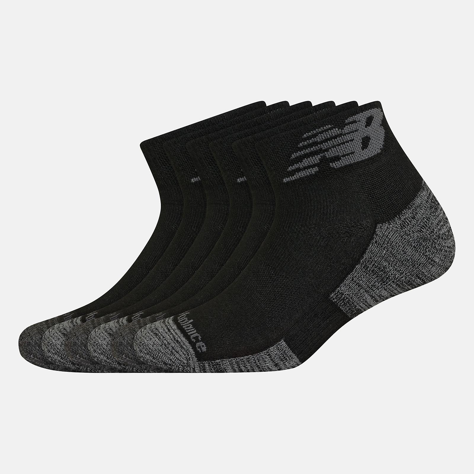 Performance Cushion Quarter Socks 6 Pack