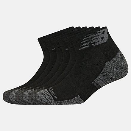 New Balance Performance Cushion Quarter Socks 6 Pack, LAS01736BK image number null