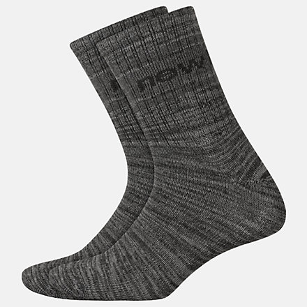 New Balance Lifestyle Midcrew Socks 2 Pair, LAS01962BK image number null
