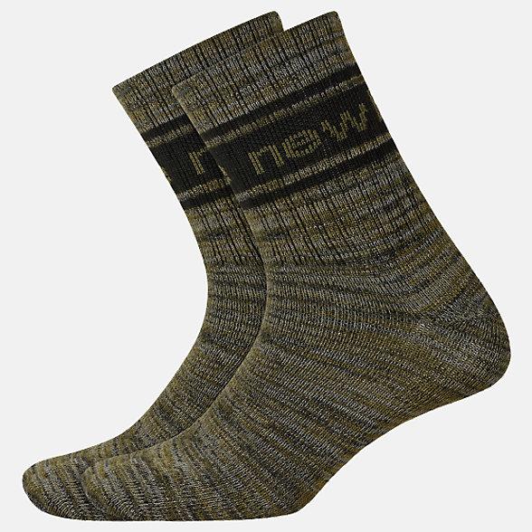 New Balance Lifestyle Midcrew Socks 2 Pair, LAS01962GN