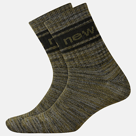 New Balance Lifestyle Midcrew Socks 2 Pair, LAS01962GN image number null