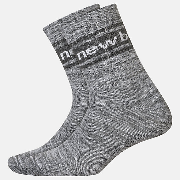 New Balance Lifestyle Midcrew Socks 2 Pair, LAS01962GR