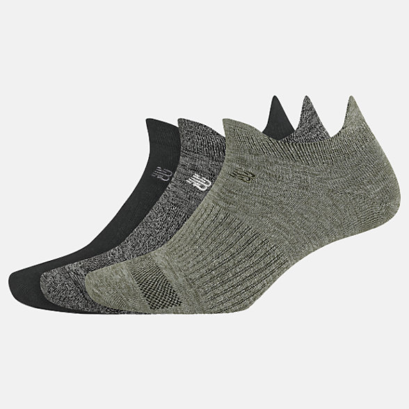 New Balance Flat Knit Lowcut Tab Socks 3 Pack, LAS02053AS