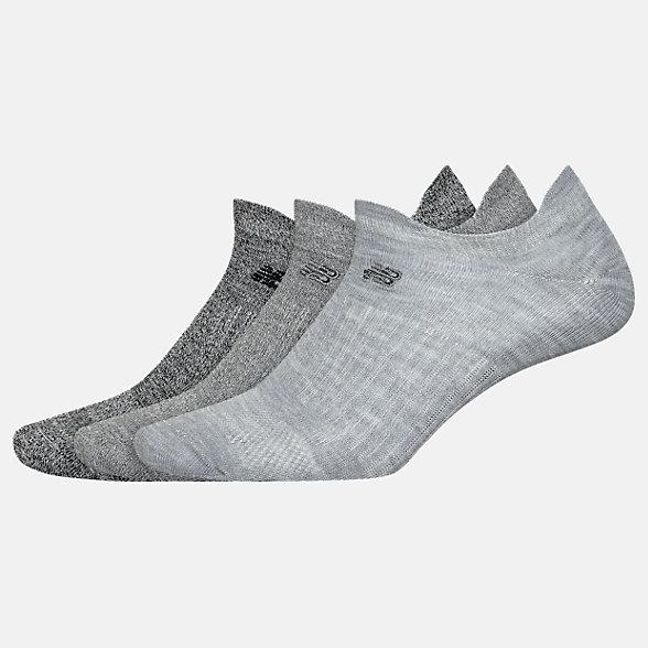 New Balance Flat Knit Lowcut Tab Socks 3 Pack, LAS02053LGH