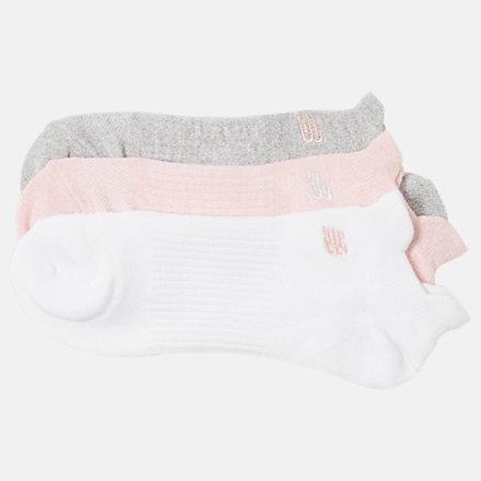 New Balance Flat Knit Lowcut Tab Socks 3 Pack, LAS02053PK image number null