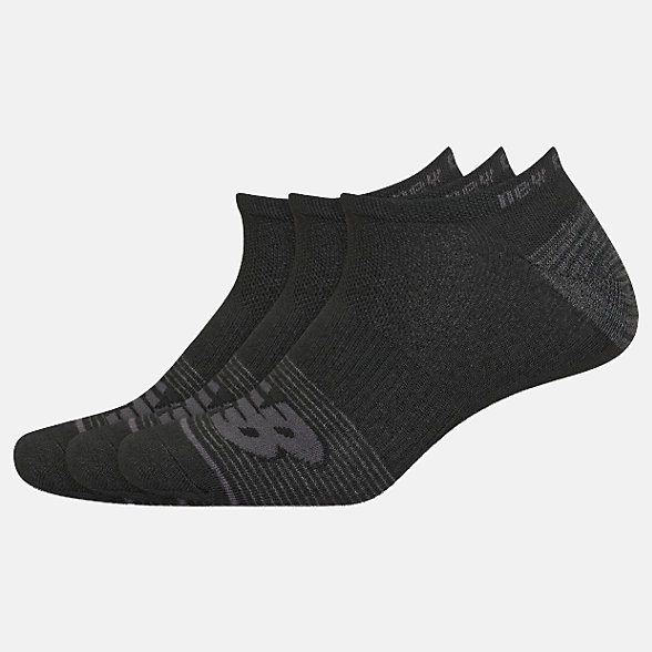 New Balance Lightweight No Show Socks 3 Pack, LAS02173BK