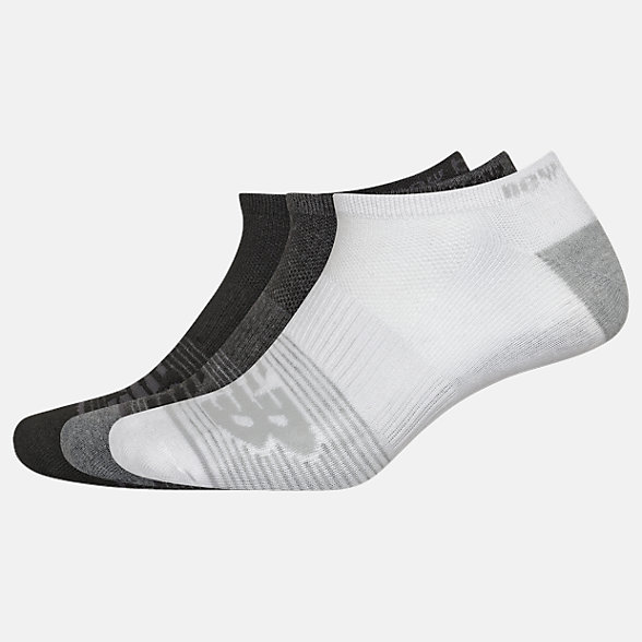 New Balance Lightweight No Show Socks 3 Pack, LAS02173BM