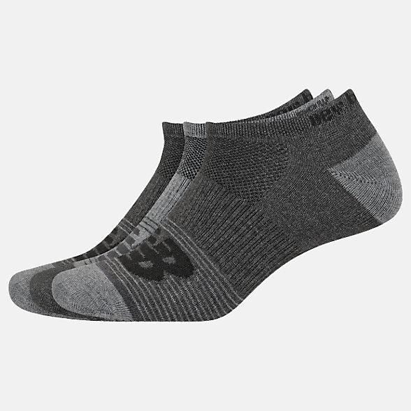 New Balance Lightweight No Show Socks 3 Pack, LAS02173GR