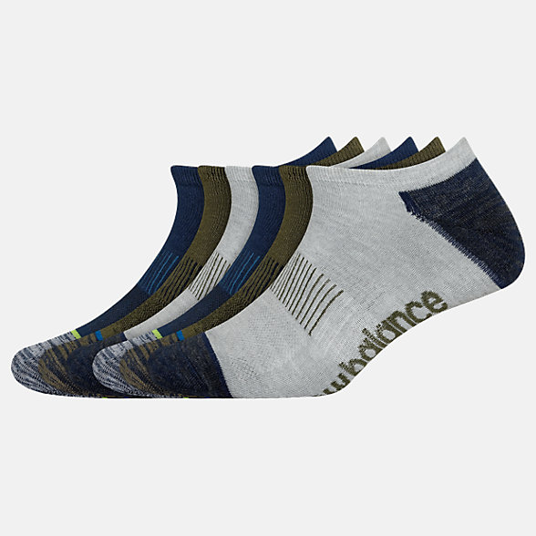 New Balance Lightweight No Show Socks 6 Pack, LAS02276AS
