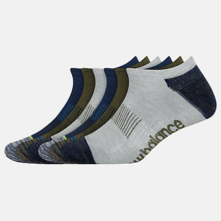 New Balance Lightweight No Show Socks 6 Pack, LAS02276AS image number null