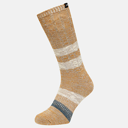 NB Lifestyle Woven Label Crew 1 Pair Socken, LAS02331BEI image number null