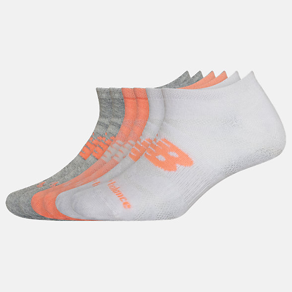 New Balance Lightweight No Show Socks 6 Pack, LAS02376AS