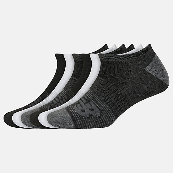 New Balance Lightweight No Show Socks 6 Pack, LAS02476BM