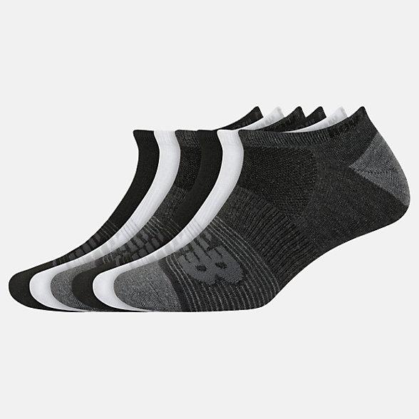 New Balance Lightweight No Show Socks 6 Pack, LAS02476BM