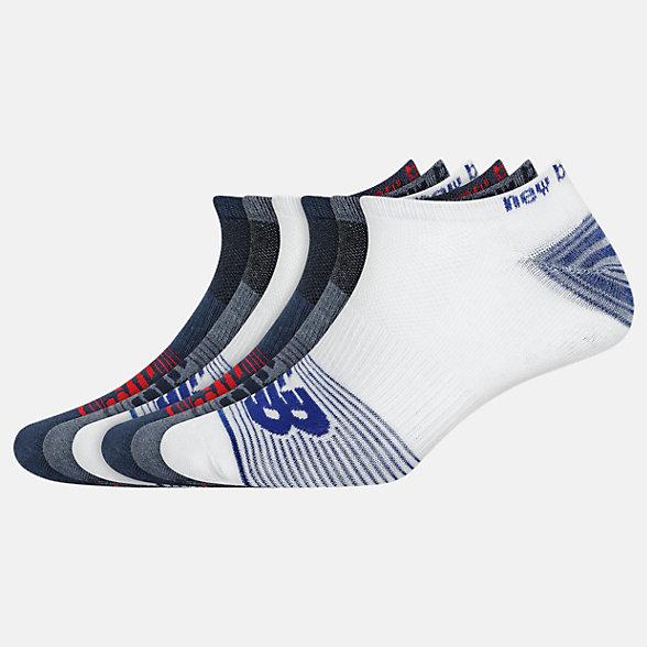 New Balance Lightweight No Show Socks 6 Pack, LAS02476NV