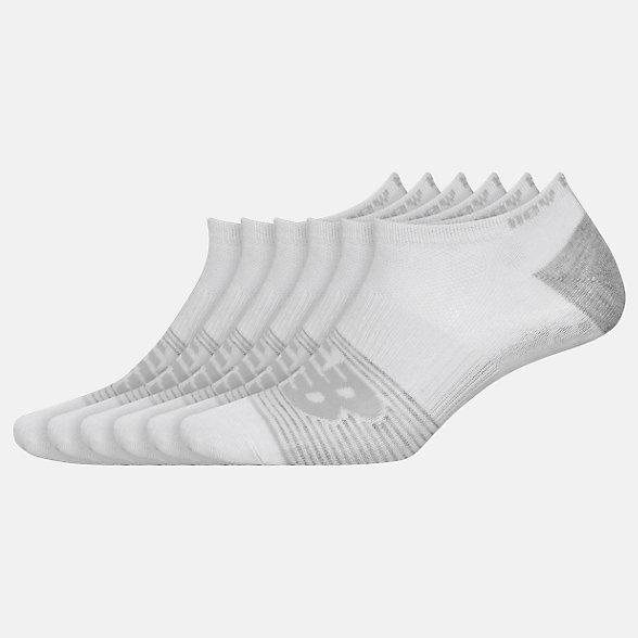 New Balance Lightweight No Show Socks 6 Pack, LAS02476WT