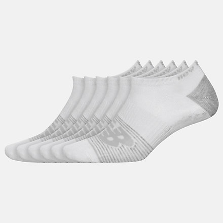 New Balance Lightweight No Show Socks 6 Pack, LAS02476WT image number null