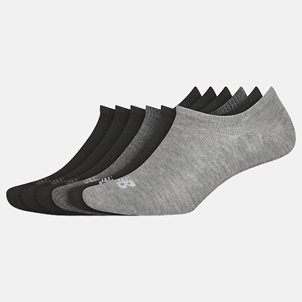 New Balance Invisible No Show Liner Socks 6 Pack, LAS02546BM