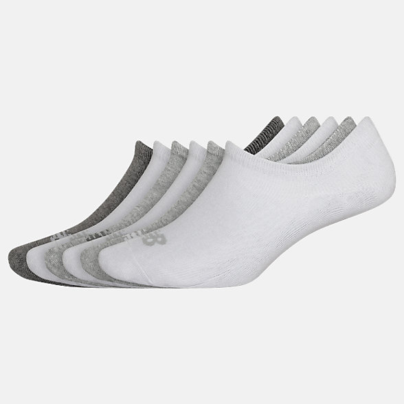New Balance Invisible No Show Liner Socks 6 Pack, LAS02546WM