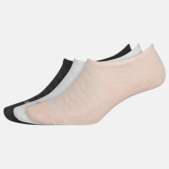 New Balance Microfiber Liner Socks 3 Pack, LAS02646BKW