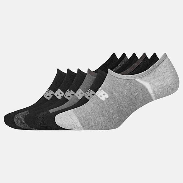 New Balance No Show Liner Socks 6 Pack, LAS02746BK
