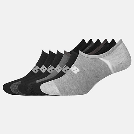 New Balance No Show Liner Socks 6 Pack, LAS02746BK image number null