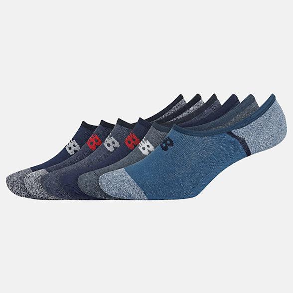 New Balance No Show Liner Socks 6 Pack, LAS02746NV