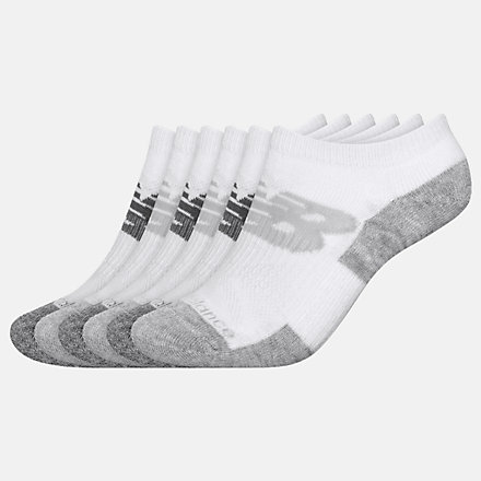 New Balance Kids Performance Cushion No Show Socks 6 Pack, LAS02926WT image number null
