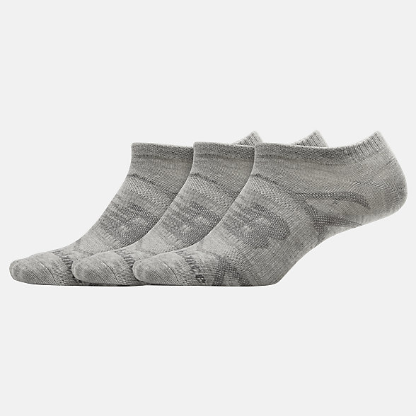 NB Flat Knit No Show Socken 3er Pack, LAS03223LGH