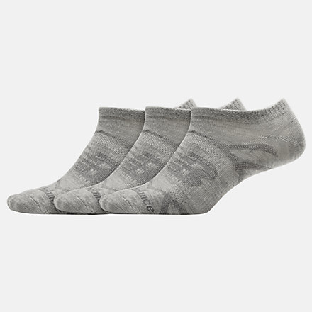 NB Flat Knit No Show Socks 3 Pack, LAS03223LGH image number null