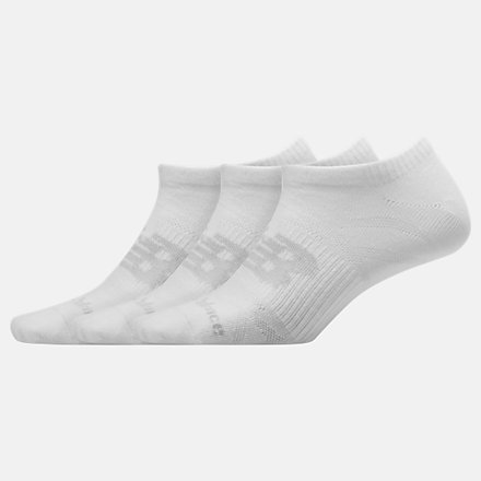 NB Flat Knit No Show Socks 3 Pack, LAS03223WT image number null