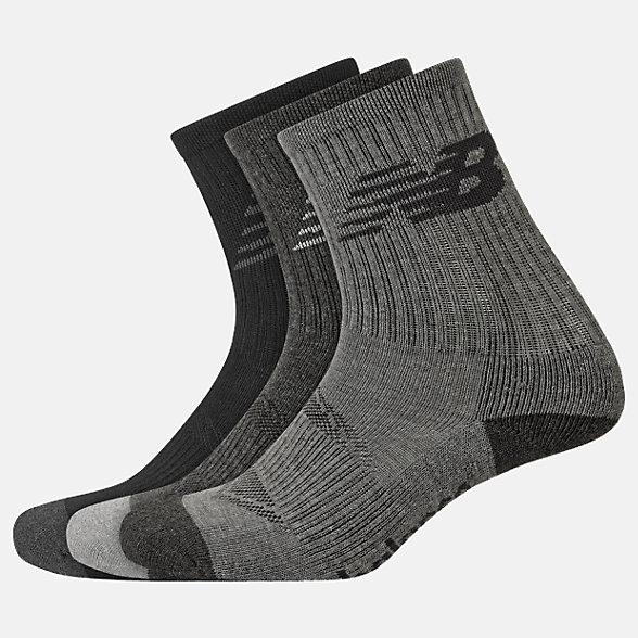 New Balance Kids Performance Crew Socks 3 Pack, LAS03263GR
