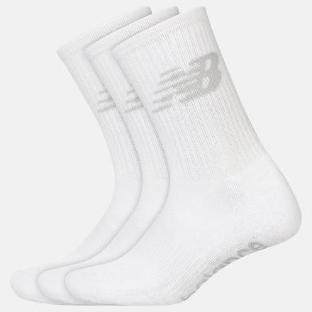 New Balance Kids Performance Crew Socks 3 Pack, LAS03263WT image number null