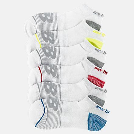 New Balance Kids Lightweight No Show Socks 6 Pack, LAS03776GML image number null
