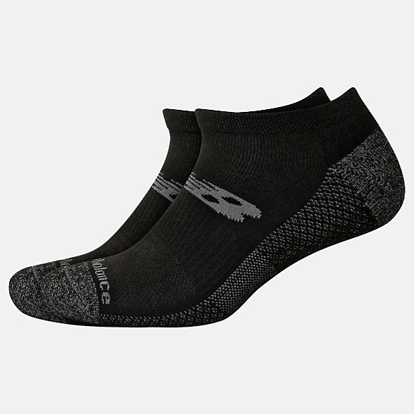 New Balance Cooling Cushion Performance Lowcut Socks 2 Pair, LAS04172BK