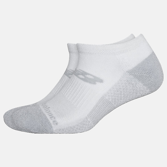 New Balance Cooling Cushion Performance Lowcut Socks 2 Pair, LAS04172WT