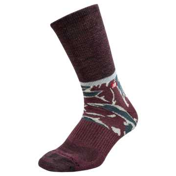 New Balance Mens Tiger Camo Lifestyle Crew Sock 1 Pair, Burgundy