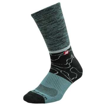 New Balance TOPO Lifestyle Crew Socks, Black