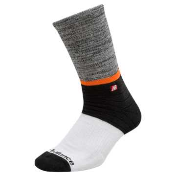 New Balance Colorblock Crew Socks, White