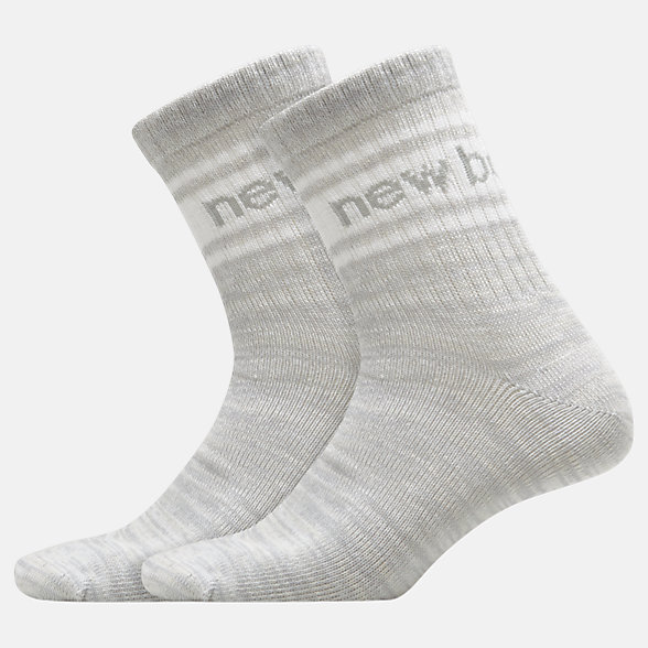 NB Mens Evergreen Short Crew Sock 2 Pair, LAS23062WT