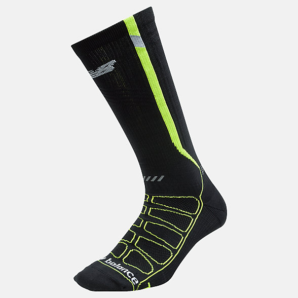 New Balance Reflective Compression Run Socks, LAS39311BKY
