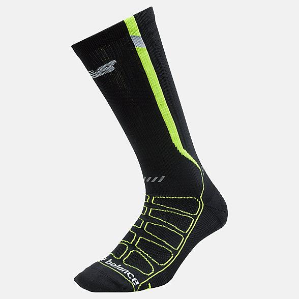 New Balance Chaussettes de course de compression réfléchissantes, LAS39311BKY