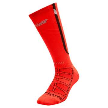 New Balance Reflective Compression Run Socks, Flame