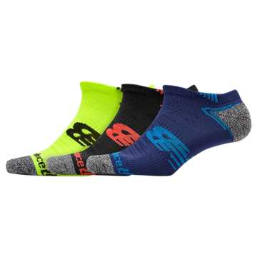 New Balance No Show Run Sock 3 Pair, Assorted Colors