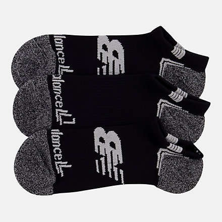 NB No Show Run Sock 3 Pair, LAS44223BKW image number null
