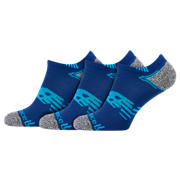 NB No Show Run Sock 3 Pair, Blue